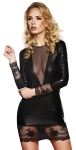 Clubwear 7Heaven Wetlook-Minikleid Olivet schwarz