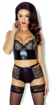 Dessous-Set Demoniq Martine, schwarz-gold